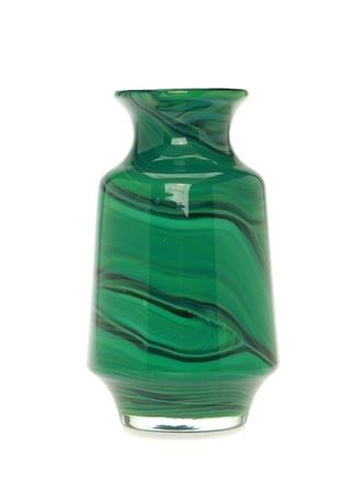 Malaki Yeşil Desenli Cam Vazo