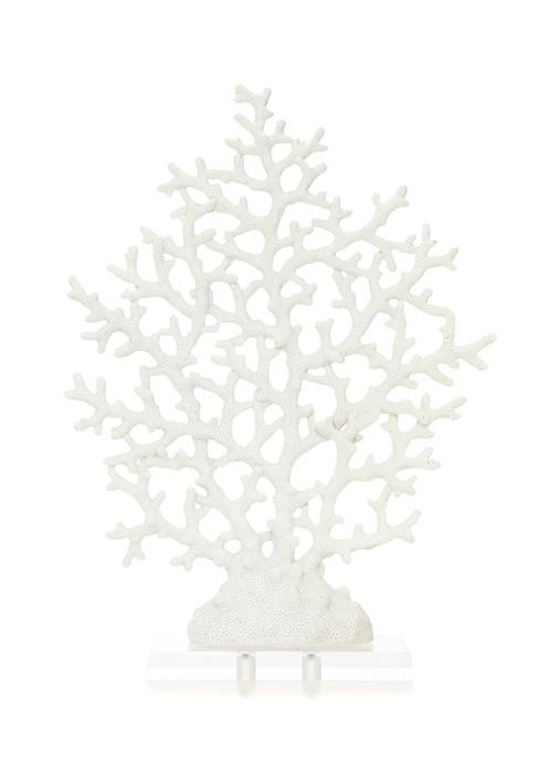 Beyaz Mercan Formlu Dekoratif Obje