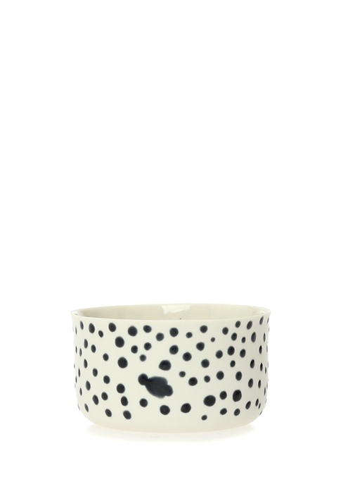 Classic Small Beyaz Siyah Puanlı Porselen Bardak