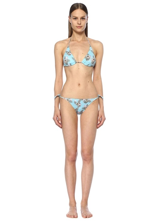 Miami Vice Mavi Üçgen Bikini Takımı