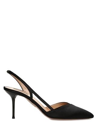 Aquazzura Kadın Salome Siyah Taş İşleme Detaylı Stiletto 37.5 EU