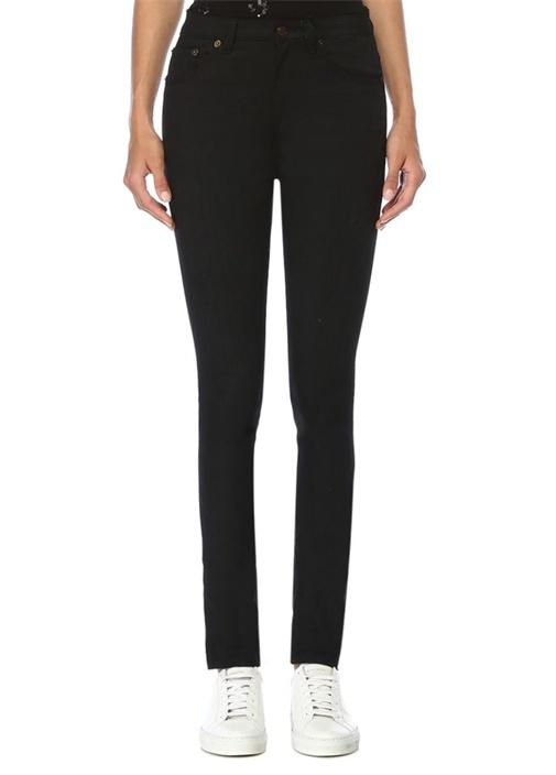 Siyah Normal Bel Dar Paça Jean Pantolon