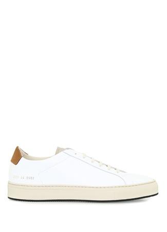 Common Projects Erkek Retro Beyaz Bej Deri Sneaker 45 EU male