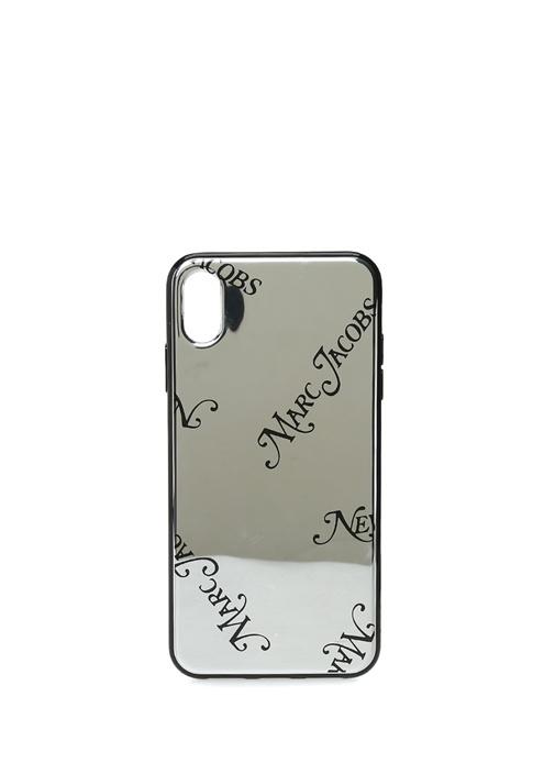 Ayna Efektli Logolu iPhone XS Max Kılıfı