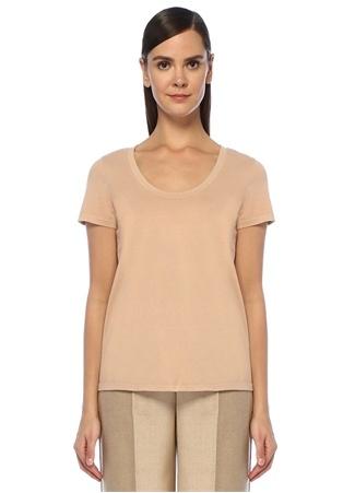 Theory Kadın Nude U Yaka Basic T-shirt Altın Rengi XS EU Pudra female