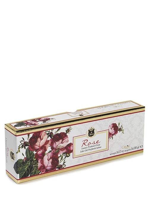 3lü Lux Rose Parfümlü Sabun Seti