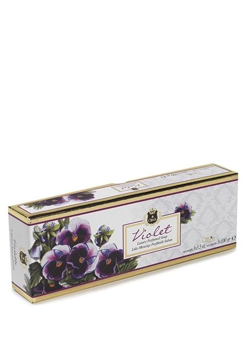 3lü Lux Violet Parfümlü Sabun Seti