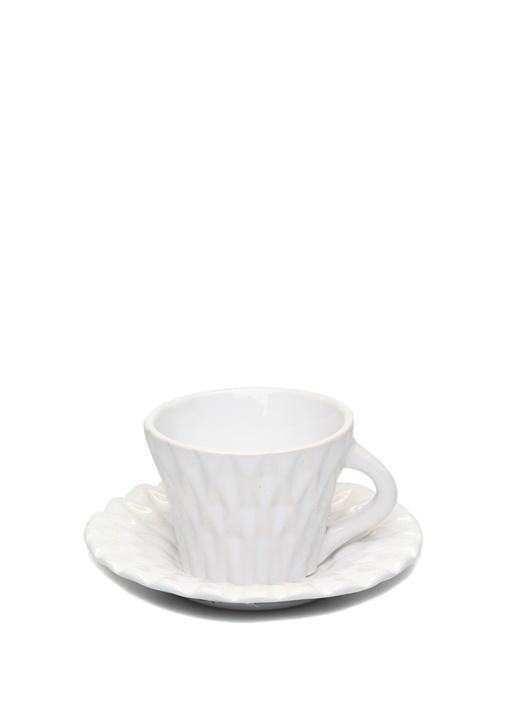 Beyaz Seramik Kahve Fincanı