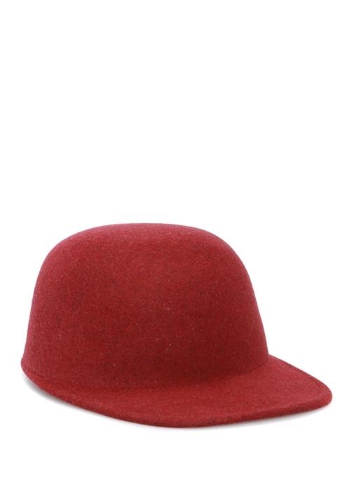 Bordo Kadın Yün Şapka