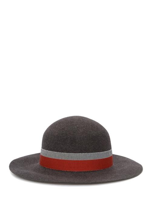 Antrasit Kadın Yün Kasket Şapka