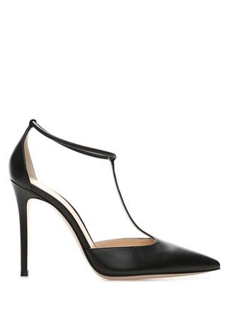 Kadın Cherly Siyah Bant Detaylı Deri Topuklu Ayakkabı 39.5 EU