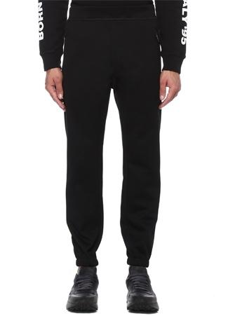 Siyah Normal Bel Jogger Pantolon