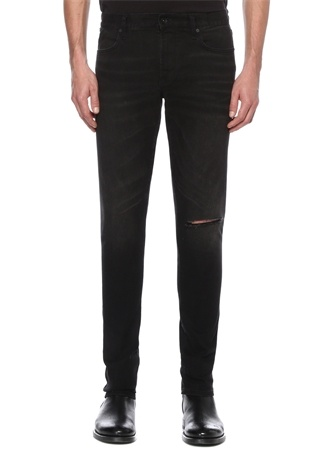 Skinny Fit Matchstick Siyah Jean Pantolon