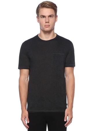 Antrasit Kırçıllı Basic T-shirt