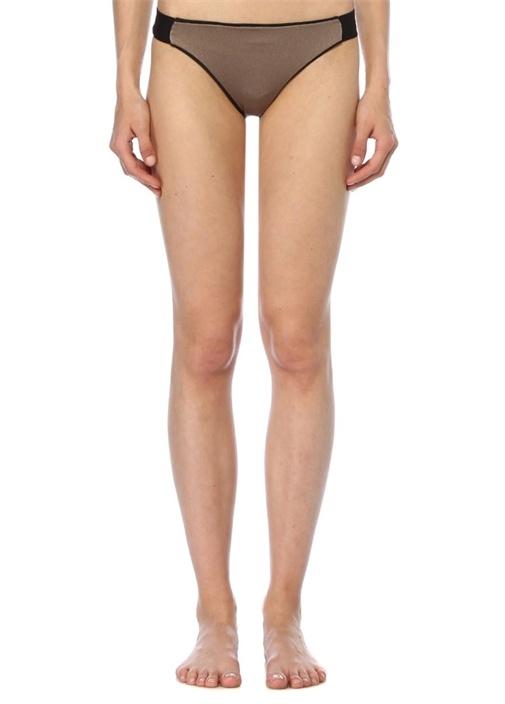 Vizon Siyah Çift Taraflı Düşük Bel Bikini Altı