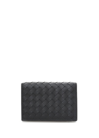 Bottega Veneta Erkek Siyah Örgü Dokulu Deri Kartlık EU male Standart