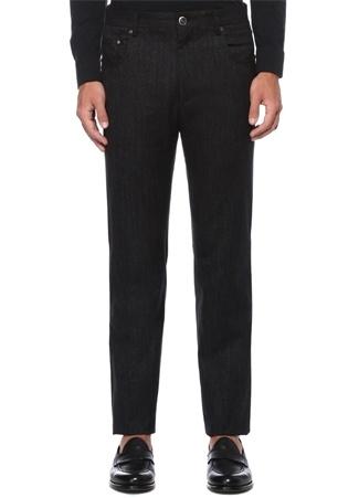 Drop 6 Siyah Denim Görünümlü Pantolon