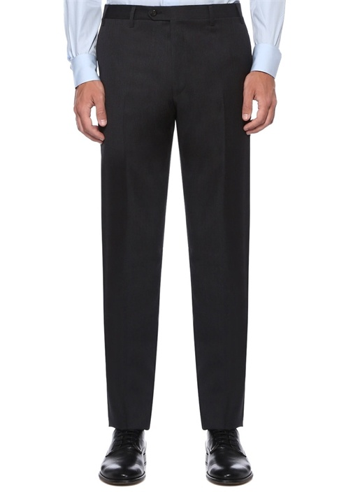 Drop 7 Antrasit Normal Bel Boru Paça Yün Pantolon