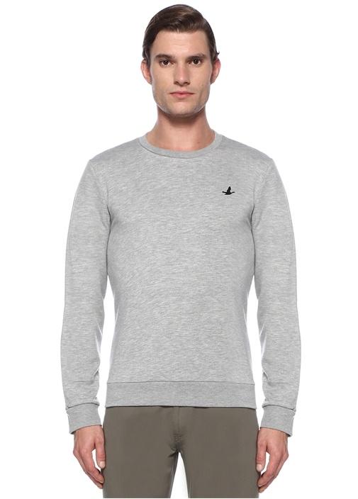 Gri Kuş Logolu Sweatshirt
