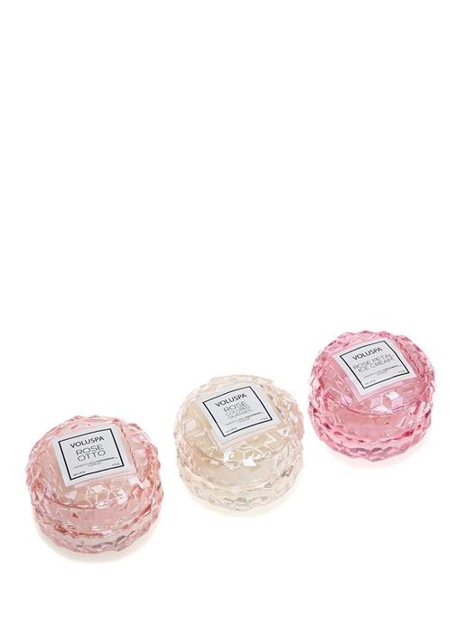 Pink Roses Macaron 3lü Mum