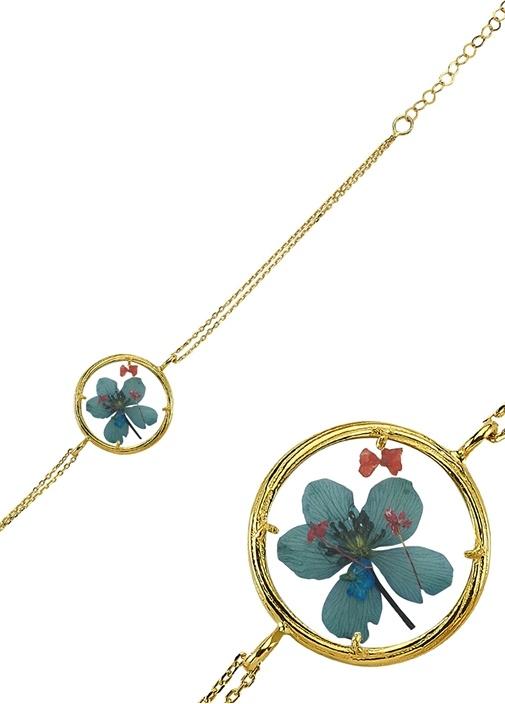 Sentina Flower Gold Kadın Bilezik