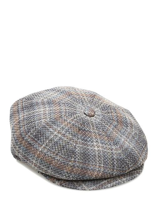Gri Desenli Erkek Keten Şapka