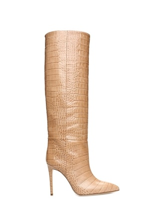 Paris Texas Kadın Cocco Bej Krokodil Dokulu Deri Çizme 39.5 EU