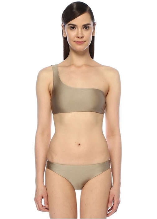 Apex Vizon Tek Omuzlu Çift Askılı Bikini Üstü