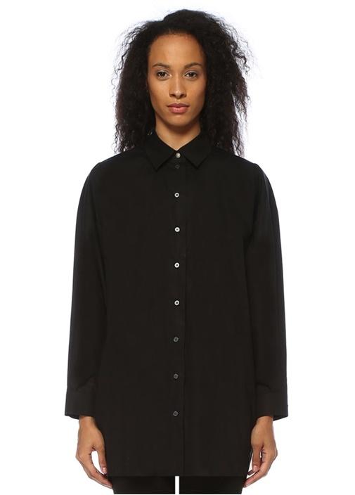 Siyah Bol Kesim Gömlek