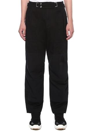 Siyah Yüksek Bel Kemerli Dar Paça Pantolon