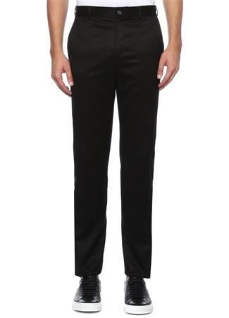 Siyah Yüksek Bel Dekoratif Dikişli Pantolon