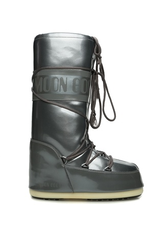 Moon Boot Kadın Classic Metalik Gri Logolu Kar Botu 35-38 EU