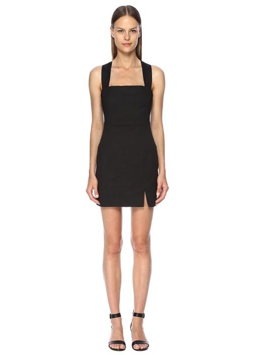 Fınders Keepers Destination Siyah Sırtı Çapraz Askılı Mini Elbise – 1249.0 TL
