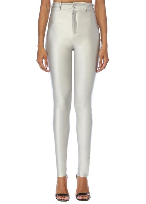 Silver Yüksek Bel Dar Paça Pantolon