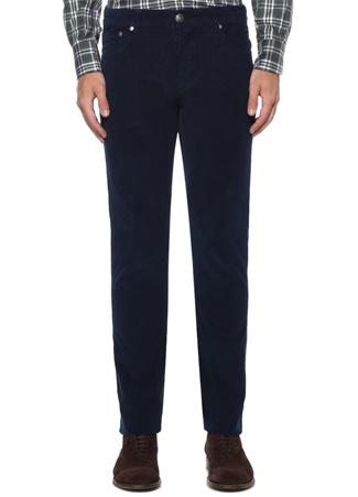 Lacivert Normal Bel Çizgi Dokulu Pantolon