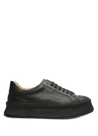 Jil Sander Kadın Siyah Taban Detaylı Sneaker 38 EU female