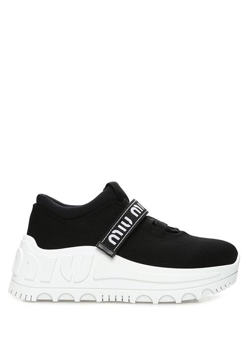 Siyah Beyaz Taban Detaylı Kadın Sneaker
