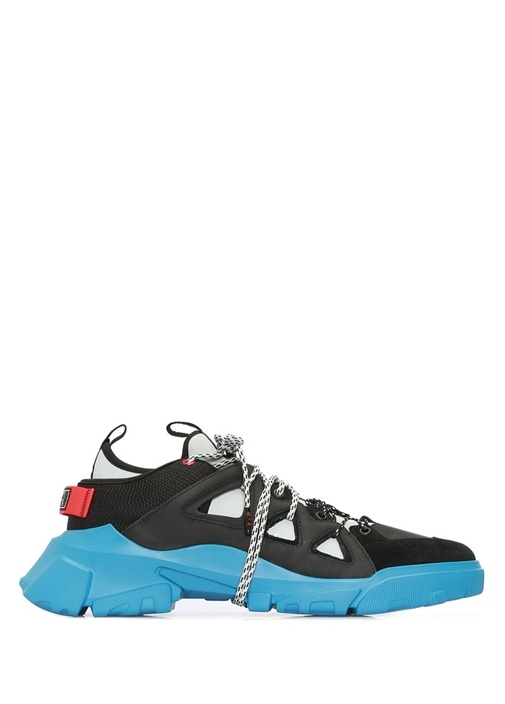 Siyah Mavi Logolu Erkek Sneaker