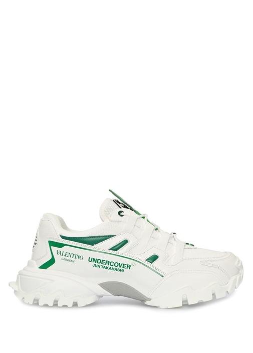 Undercover Climbers Beyaz Yeşil Erkek Deri Sneaker
