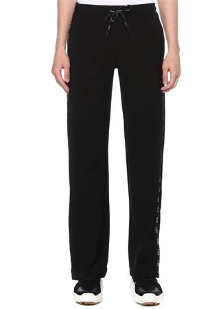 Siyah Kenarları Logo Şeritli Paça Detaylı Pantolon