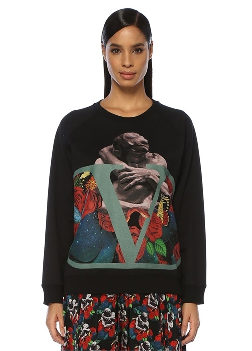 Undercover VLogo Lovers Siyah Sweatshirt