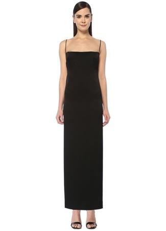 Paris Georgia Kadın Phoebe Siyah Kare Yaka İnce Askılı Maksi Elbise XS EU