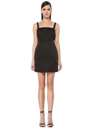 Paris Georgia Kadın Jay Siyah Sırt Dekolteli Mini Kokteyl Elbise XS EU