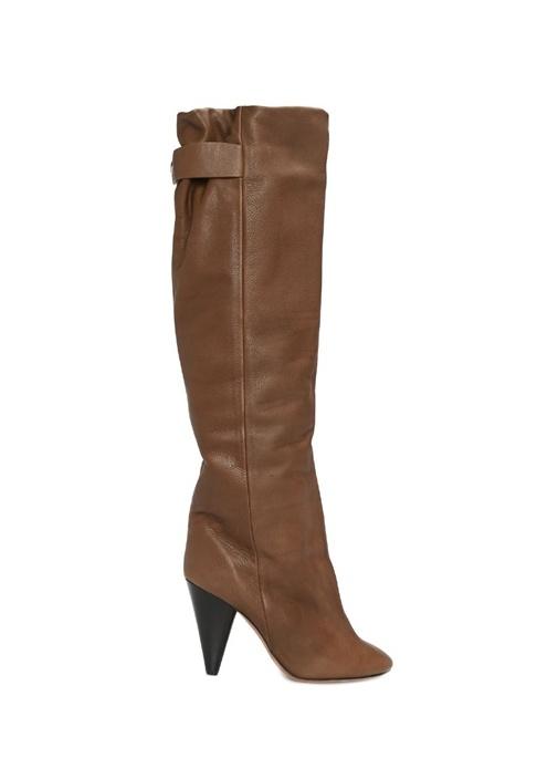 Lacine Haki Kadın Deri Çizme