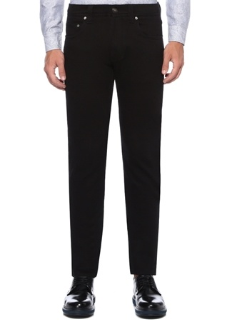 Slim Fit Siyah Normal Bel İşlemeli JeanPantolon