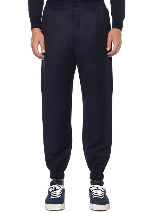 Slim Fit Lacivert Yün Jogger Pantolon