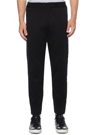 Siyah Kenarı Şeritli Dekoratif Dikişli Pantolon