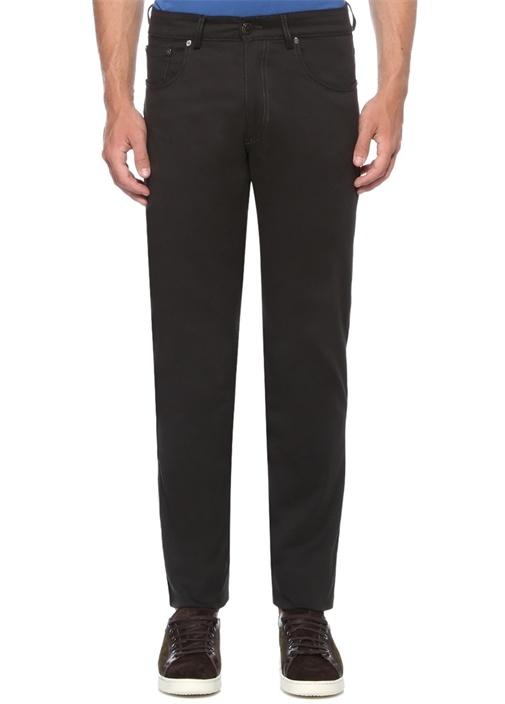 Regular Fit Siyah Normal Bel Boru Paça Pantolon