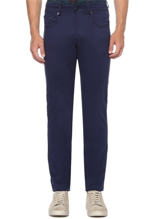 Regular Fit Lacivert Normal Bel Boru Paça Pantolon