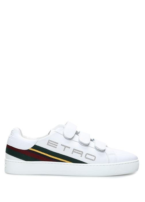 Beyaz Logolu Bant Detaylı Erkek Sneaker
